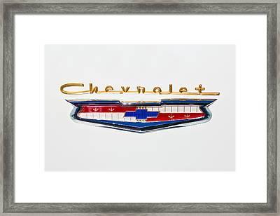1956 Chevrolet 210 Emblem Framed Print by Jill Reger