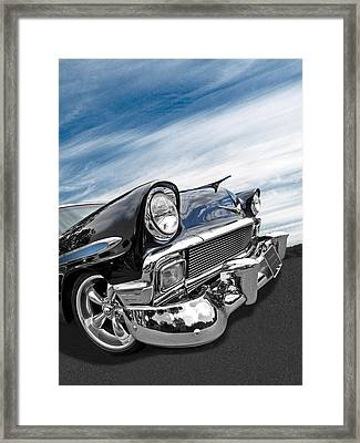 1956 Chevrolet With Blue Skies Framed Print by Gill Billington