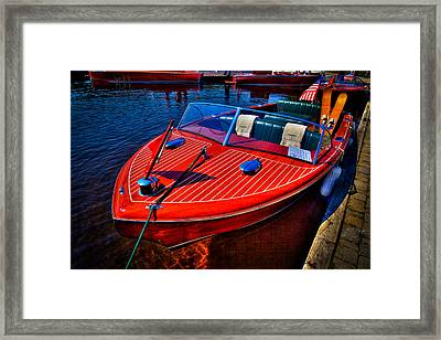 1956 Chris-craft Capri Classic Runabout Framed Print by David Patterson