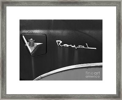 1956 Dodge 500 Series Photo 3 Framed Print by Anna Villarreal Garbis