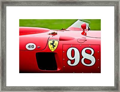 1956 Ferrari 410 Sport Scaglietti Spyder Framed Print by Jill Reger