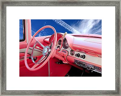 1956 Ford Crown Victoria Interior Framed Print by Jim Hughes