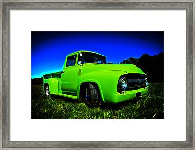 1956 Ford F-100 Pickup Truck Framed Print by motography aka Phil Clark