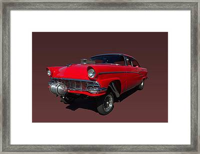 1956 Ford  Pro Street Dragster Framed Print by Tim McCullough