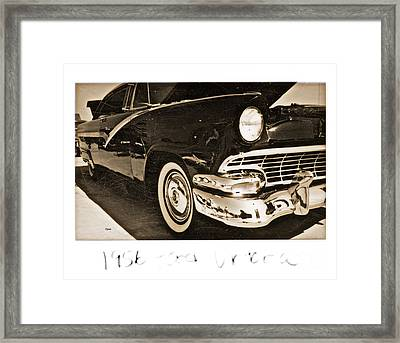 1956 Ford Victoria  Framed Print by Steven  Digman