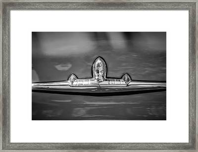1956 Lincoln Premiere Emblem -1073bw Framed Print by Jill Reger