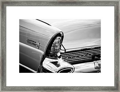1956 Lincoln Premiere Taillight Emblem -0887bw Framed Print by Jill Reger