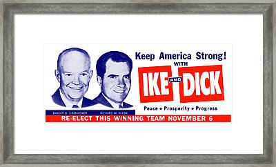 1956 Vote Ike And Dick Framed Print by Historic Image