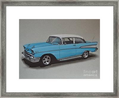 1957 Bel Air Framed Print by Paul Kuras
