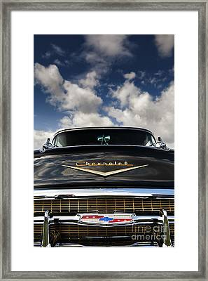 1957 Black Chevrolet Bel Air  Framed Print by Tim Gainey