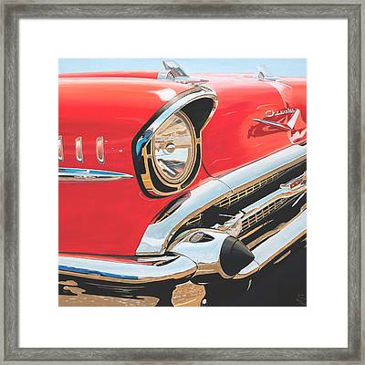 1957 Chevrolet Bel Air Framed Print by Branden Hochstetler