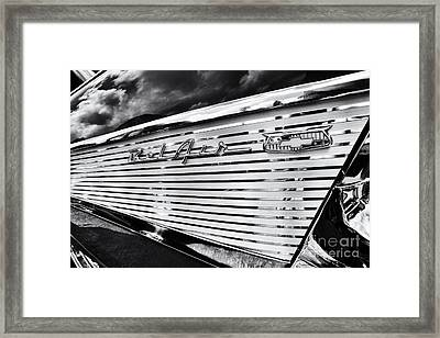 1957 Chevrolet Bel Air Monochrome Framed Print by Tim Gainey