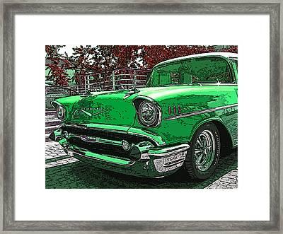 1957 Chevrolet Bel Air Framed Print by Samuel Sheats
