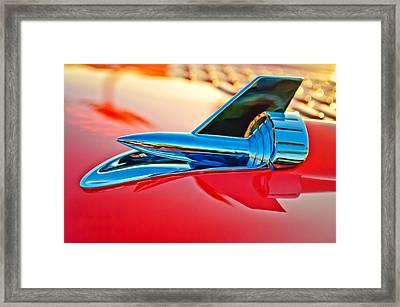 1957 Chevrolet Belair Hood Ornament Framed Print by Jill Reger