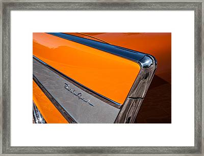 1957 Chevrolet Belair Rear Emblem -037c Framed Print by Jill Reger