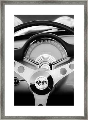 1957 Chevrolet Corvette Convertible Steering Wheel 2 Framed Print by Jill Reger