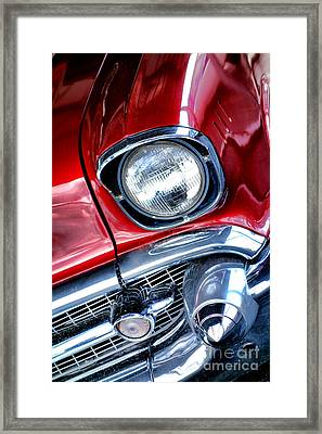 1957 Chevy Bel Air Framed Print by Olivier Le Queinec