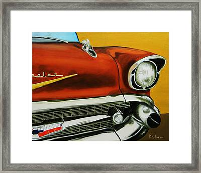 1957 Chevy - Coppertone Framed Print by Dean Glorso