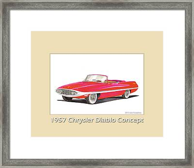 1957 Chrysler Diablo Convertible Coupe Framed Print by Jack Pumphrey
