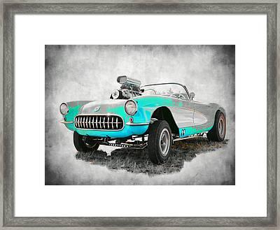 1957 Corvette Gasser Framed Print by Steve McKinzie