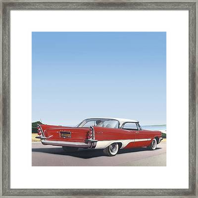 1957 De Soto - Square Format Image Picture Framed Print by Walt Curlee