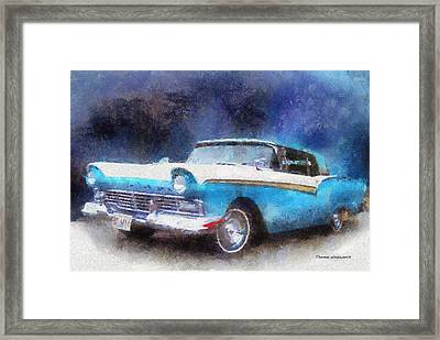 1957 Ford Classic Car Photo Art 02 Framed Print by Thomas Woolworth