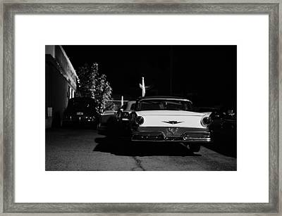 1957 Ford Noir Framed Print by Laura Fasulo