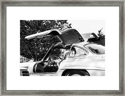 1957 Mercedes-benz Gullwing  Framed Print by Jill Reger