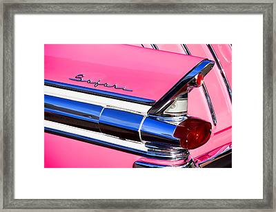 1957 Pontiac Safari Two-door Wagon Framed Print by Carol Leigh