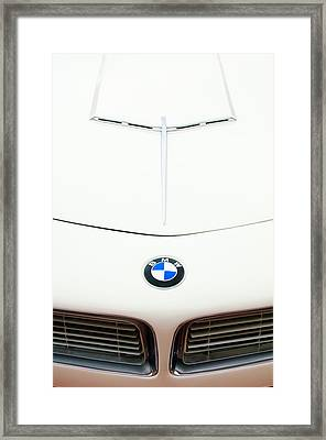 1958 Bmw 507 Roadster Hood Emblem Framed Print by Jill Reger