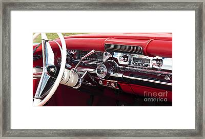 1958 Buick Special Dashboard Framed Print by Tim Gainey