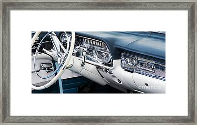 1958 Cadillac Dashboard Framed Print by Tim Gainey