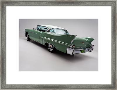 1958 Cadillac Deville Framed Print by Gianfranco Weiss