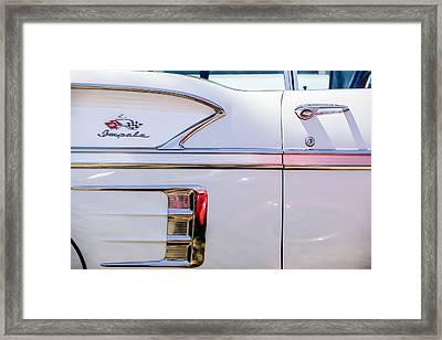 1958 Chevrolet Belair Impala Convertible Side Emblem -0615c Framed Print by Jill Reger