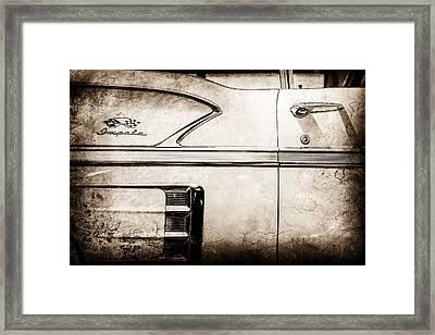 1958 Chevrolet Belair Impala Convertible Side Emblem -0615s Framed Print by Jill Reger