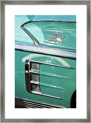 1958 Chevrolet Impala Emblem Framed Print by Jill Reger