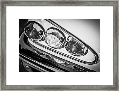 1958 Chevrolet Impala Taillight -0289bw Framed Print by Jill Reger