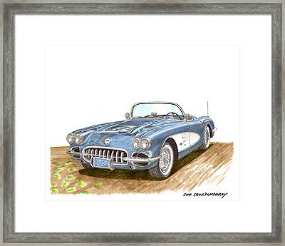 1958 Corvette Roadster Framed Print by Jack Pumphrey