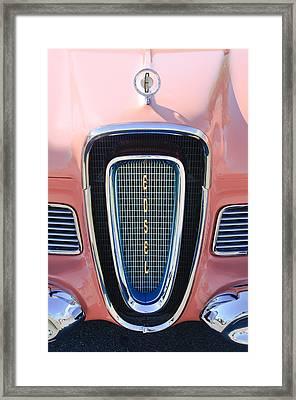 1958 Edsel Pacer Grille Emblem Framed Print by Jill Reger