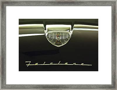 1958 Ford Fairlane 500 Victoria Hood Ornament Framed Print by Jill Reger