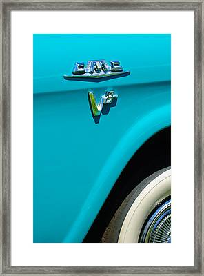 1958 Gmc Series 101-s Pickup Truck Side Emblem Framed Print by Jill Reger