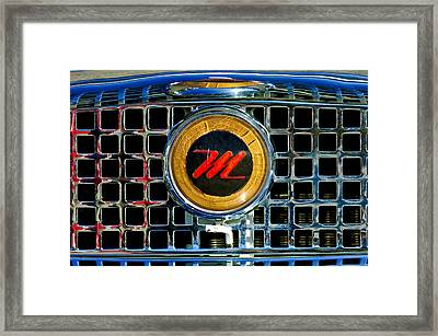 1958 Nash Metropolitan Hood Ornament 3 Framed Print by Jill Reger