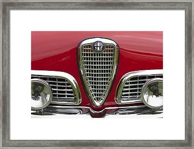 1959 Alfa Romeo Giulietta Sprint Grille Framed Print by Jill Reger