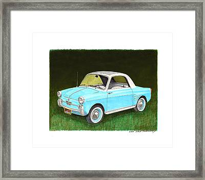 1959 Autobianchi Bianchina Framed Print by Jack Pumphrey