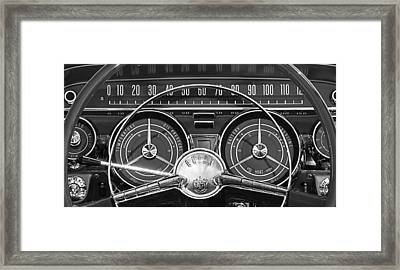 1959 Buick Lasabre Steering Wheel Framed Print by Jill Reger