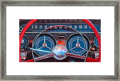 1959 Buick Lesabre Steering Wheel Framed Print by Jill Reger