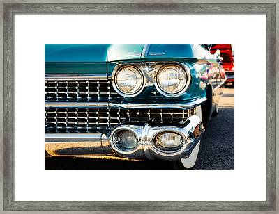 1959 Cadillac Sedan Deville Series 62 Grill Framed Print by Jon Woodhams
