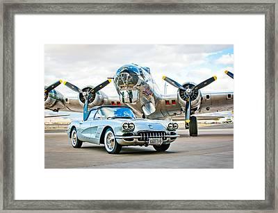1959 Chevrolet Corvette Framed Print by Jill Reger