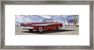 1959 Edsel Corsair Framed Print by Mike McGlothlen