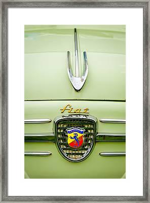 1959 Fiat 600 Derivazione 750 Abarth Hood Ornament Framed Print by Jill Reger